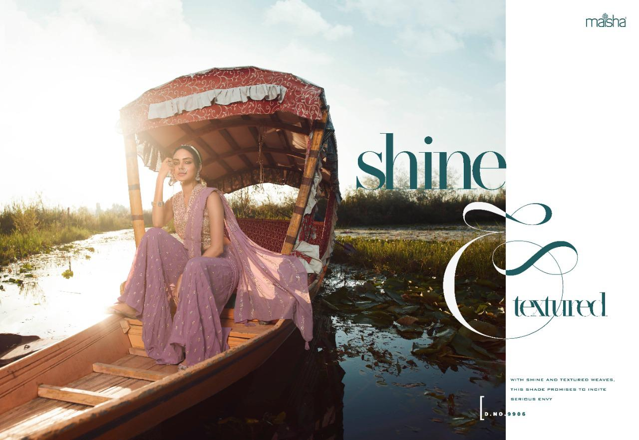 Maisha Veronica Heavy Georgette With Embroidery Work Designer Salwar Kameez At Wholesale Rate