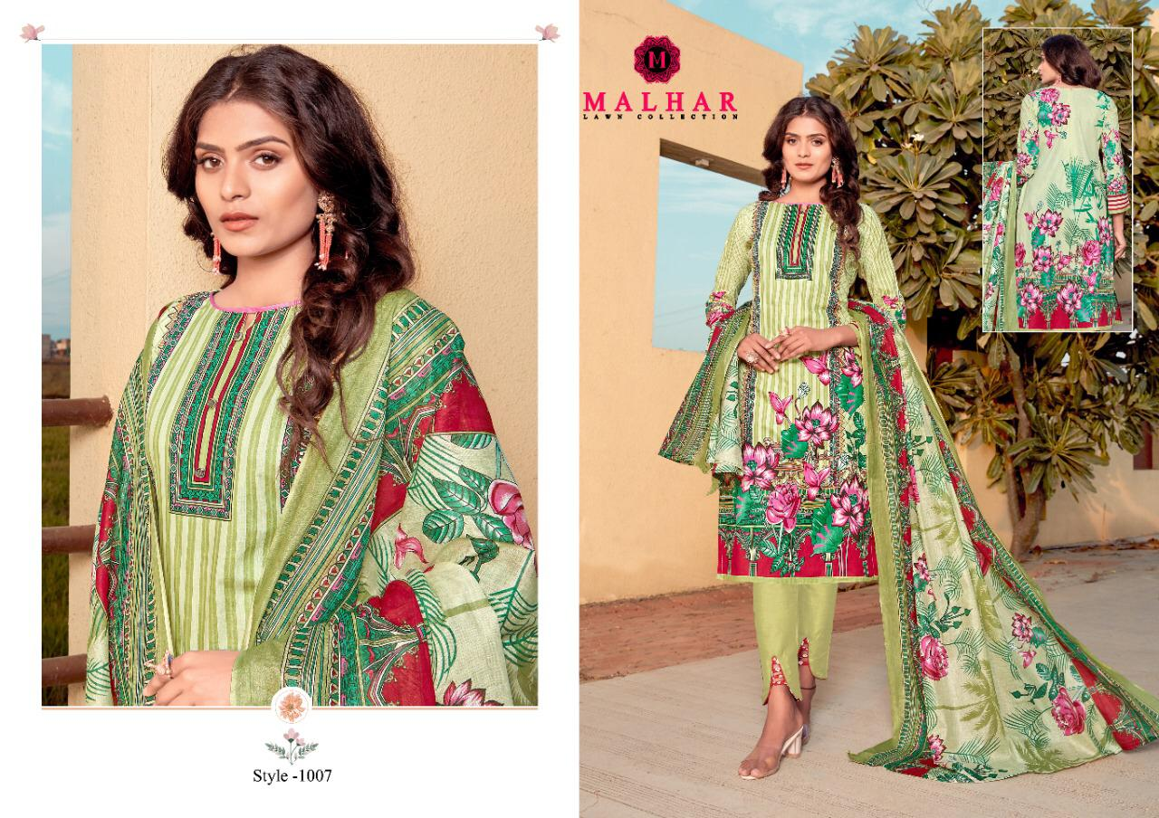 Malhar Pure Lawn Collection Printed Dress Material Collection