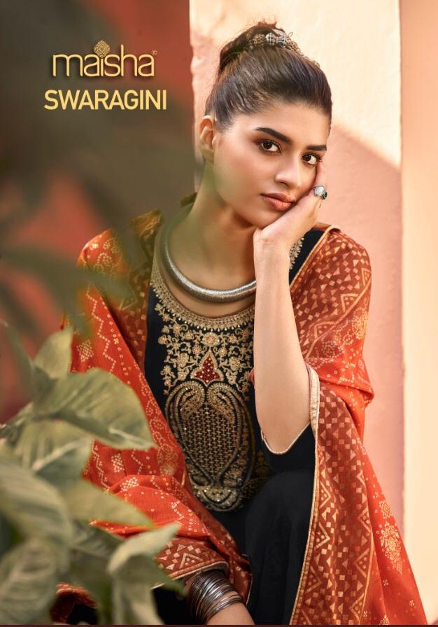 Maisha Swaragini 39003 To 39006 Georgette With Heavy Embroidery Work Salwar Kameez At Wholesale Rate