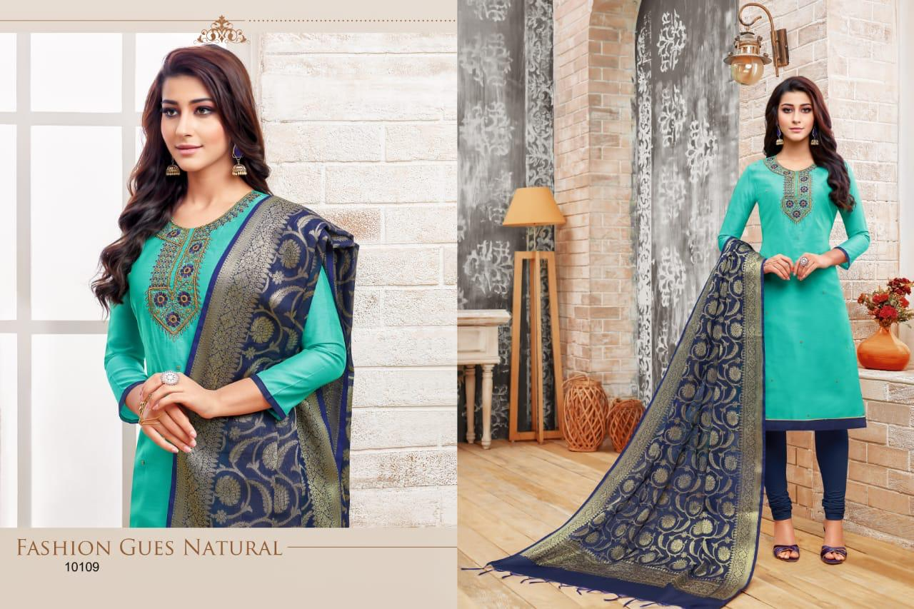 Rr Fashion Heritage Modal Silk With Embroidery Handwork Dress Material At Wholesale Rate