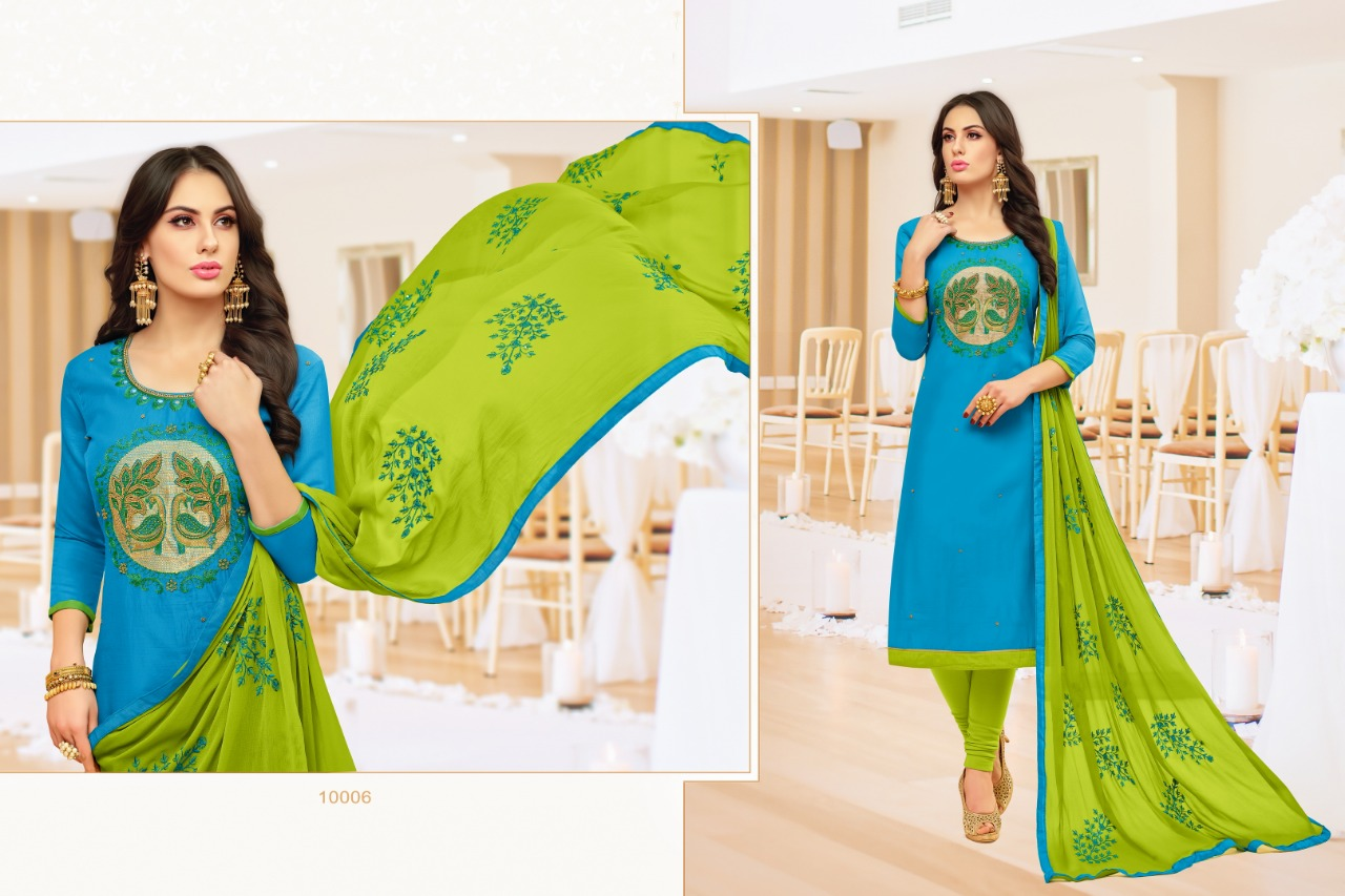 Rr Fashion Nayab Modal Cotton With Embroidery Handwork Dress Material Collection Surat