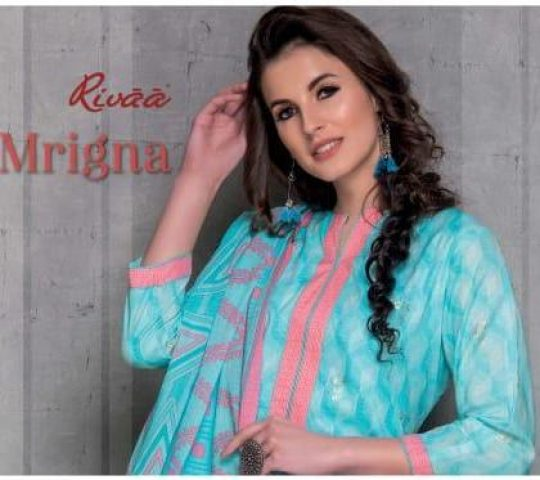 dbc9f509e2 Rivaa Exports Mrigna Designer Foil Printed Pure Cotton Dress Material at  Wholesale Rate