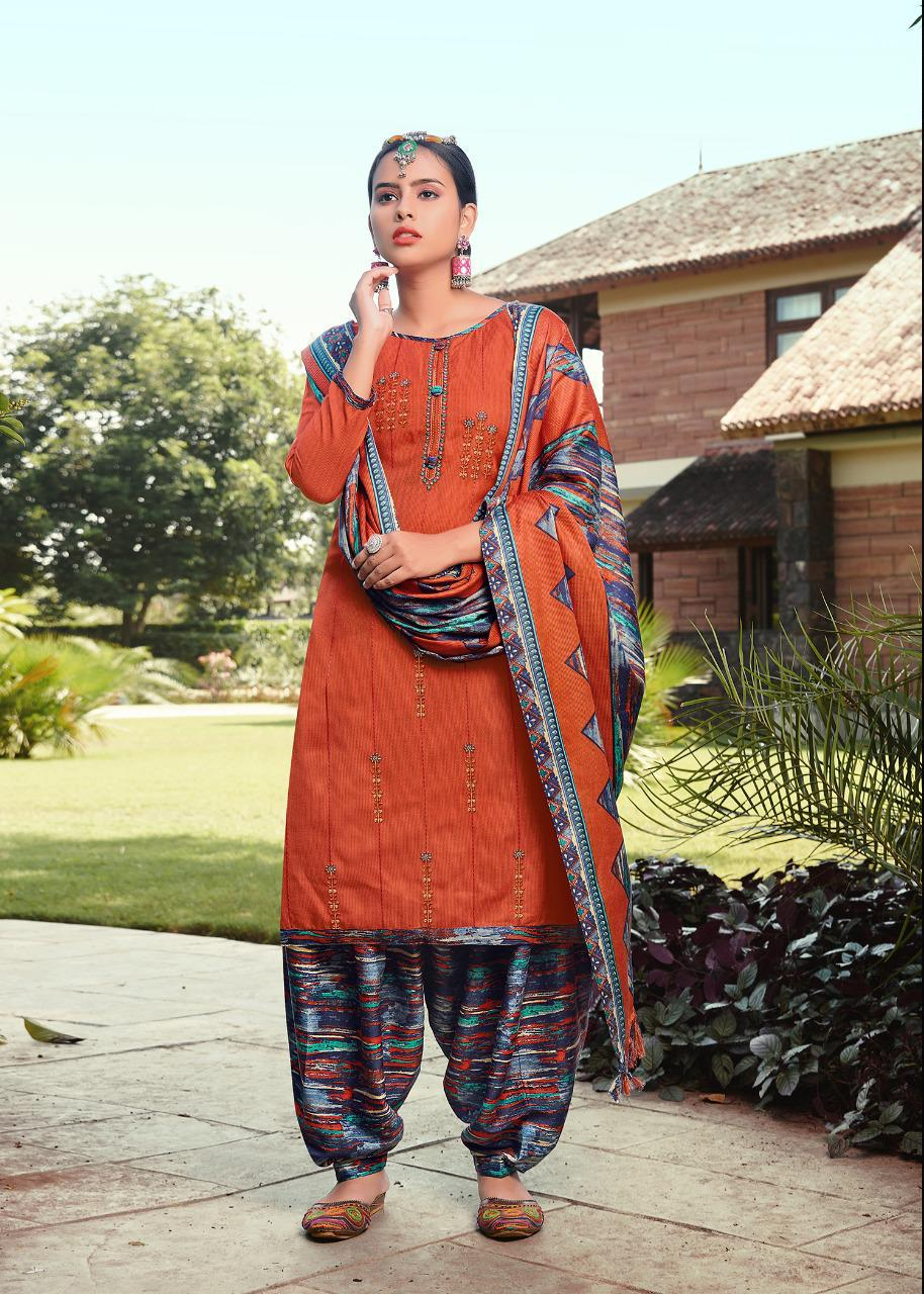 Roli Moli Pakiza Printed Pashmina Jacquard Print With Fancy Embroidery Work Dress Material At Wholesale Rate