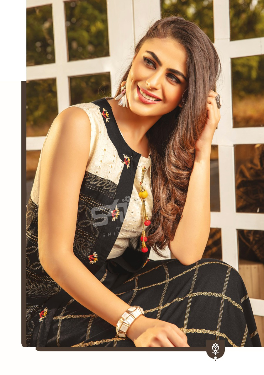 S4u Shivali Fusion Beats Vol 4 Designer Rayon With Work Readymade Kurtis Collection At Wholesale Rate