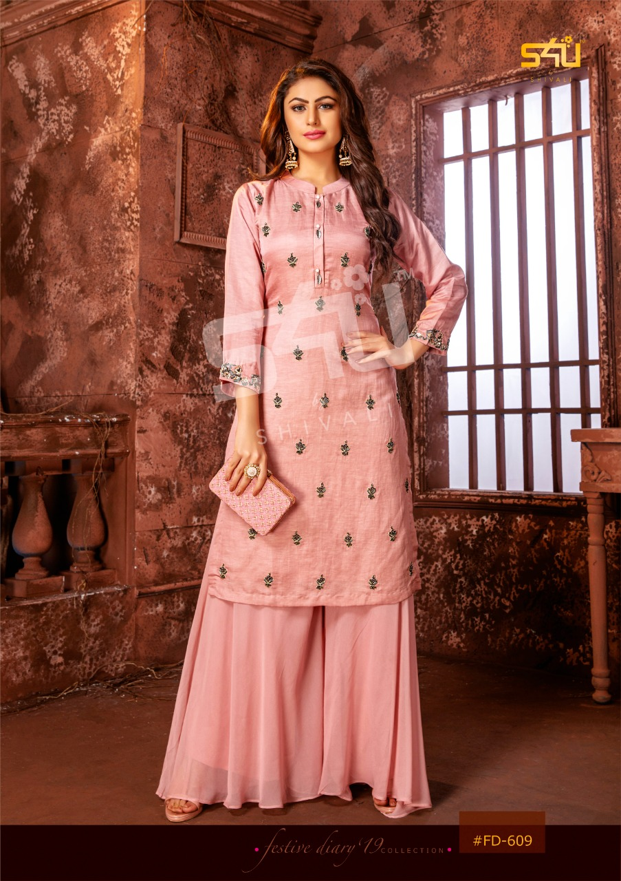 S4u Shivali Festive Dairies Vol 19 Heavy Fancy With Embroidery Work Party Wear Kurtis At Wholesale Rate