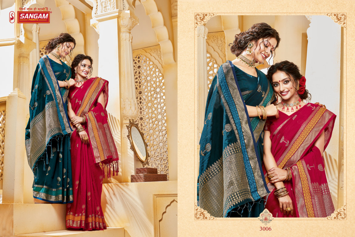 Sangam Prints Indian Handloom Cotton Handloom Traditional Sarees Collection At Wholesale Rate