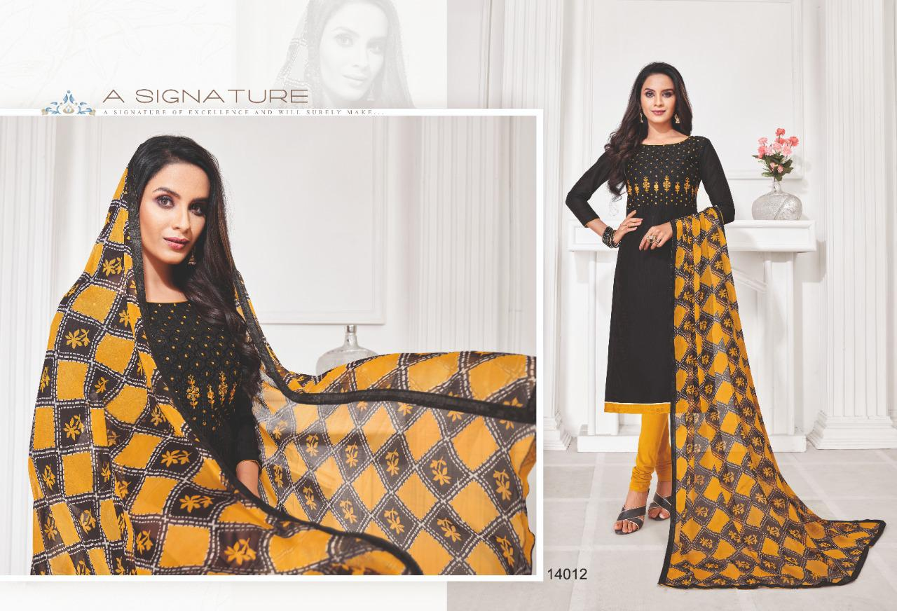 Shagun Lifestyle Autograph Vol 14 Slub Lining With Embroidery Work Dress Material At Wholesale Rate