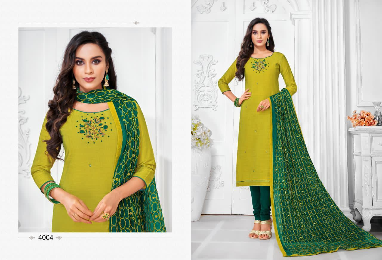 Shagun Lifestyle Balloon Vol 4 Jharna Silk With Handwork Dress Material Collection At Wholesale Rate