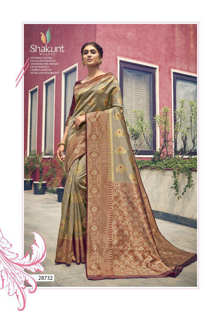 Shakunt Weaves Kumkum Traditional Art Silk Sarees Collection At Wholesale Rate
