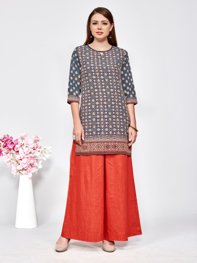 Latest Printed American Crepe Casual Readymade Kurtis At Wholesale Rate