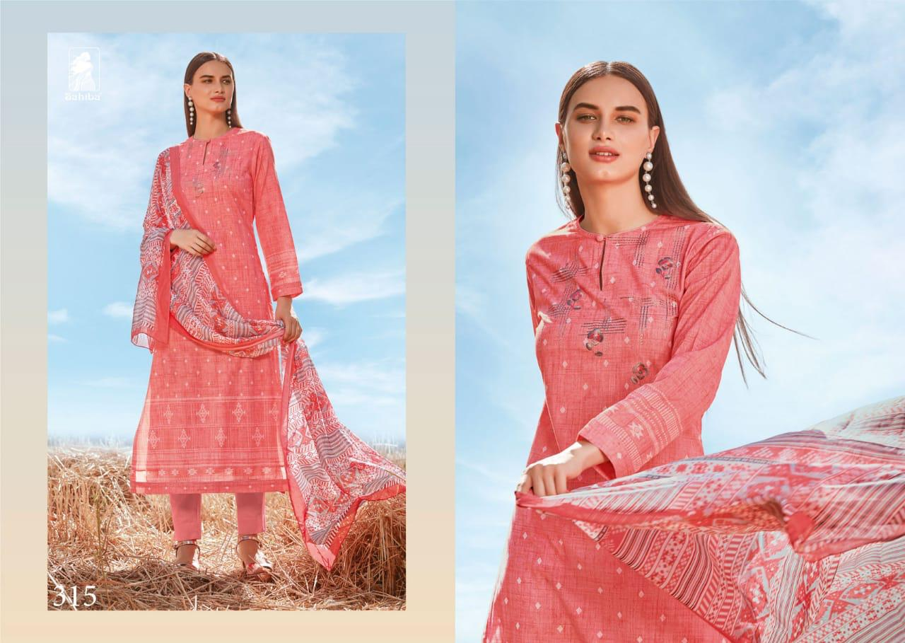 Sahiba Summer Breeze Digital Printed Lawn Cotton With Embroidery Work Dress Material At Wholesale Rate