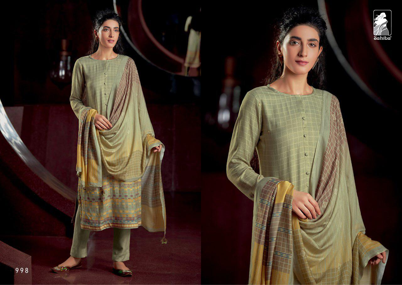 Sahiba The Weave Digital Printed Pure Pashmina With Handwork Dress Material Collection At Wholesale Rate