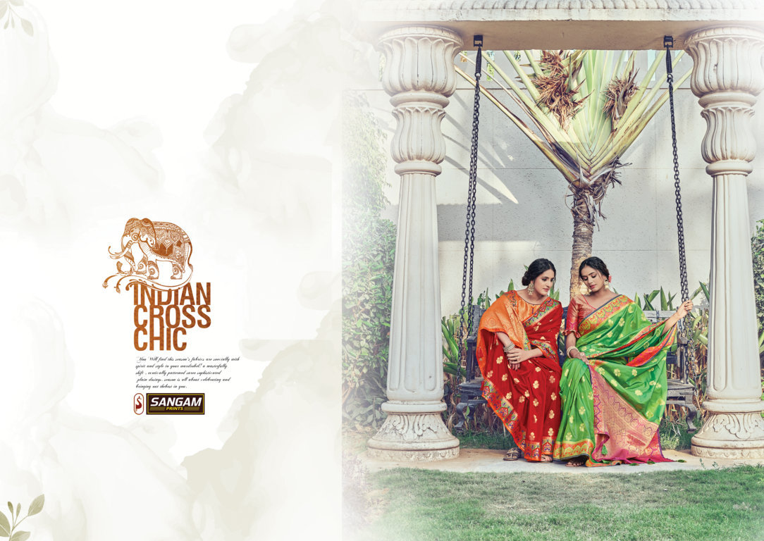 Sangam Prints Chandchakori Pure Silk With Heavy Weaving Work Sarees Collection At Wholesale Rate