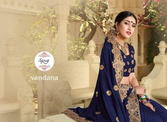 b469798df5 Saroj Vandana Vichitra Silk with Heavy Embroidery Work Sarees Collection at  Wholesale Rate | Ethnic Export