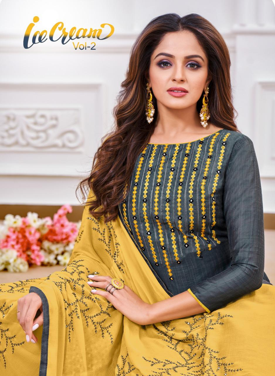 Shagun Lifestyle Ice Cream Vol 2 Zarna Silk With Embroidery Work Dress Material At Wholesale Rate