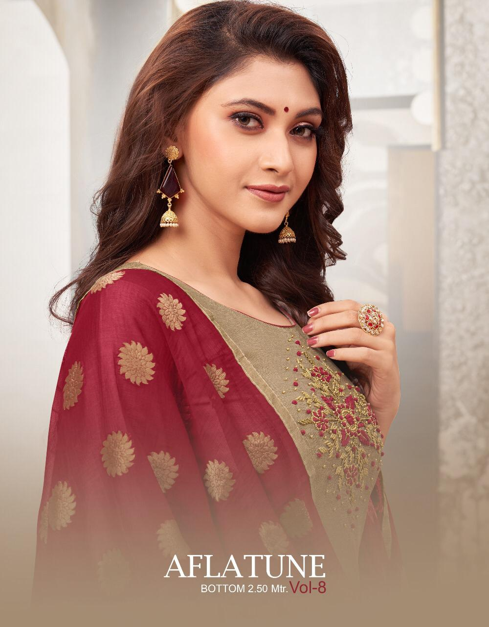 Shagun Lifestyle Aflatune Vol 8 Soft Silk With Handwork Dress Material Collection At Wholesale Rate