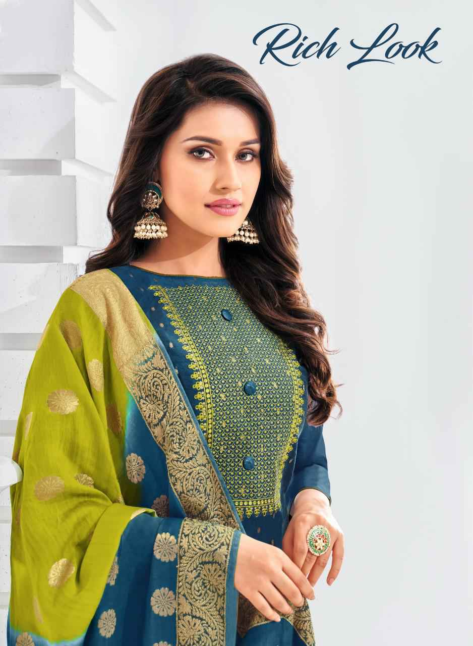 Shagun Lifestyle Rich Look Modal Butti With Work Dress Material Collection At Wholesale Rate