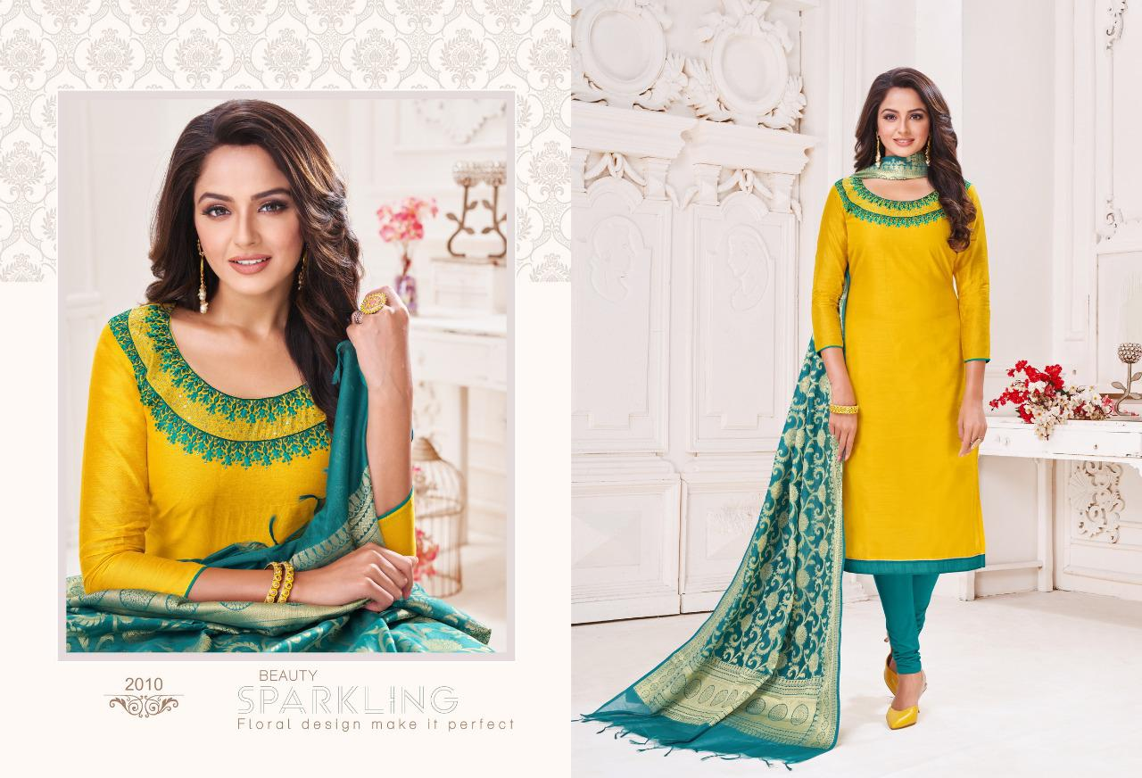 Shagun Lifestyle Vaccine Vol 2 Modal Silk With Embroidery Work Dress Material At Wholesale Rate