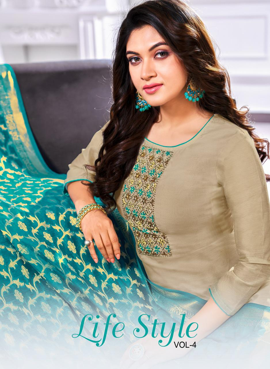 Shagun Lifestyle Vol 4 Modal Silk With Handwork Dress Material At Wholesale Rate