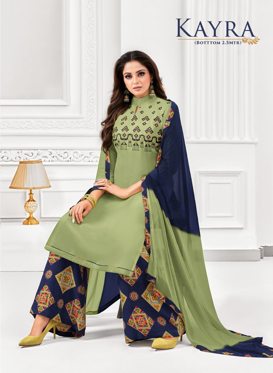 Shagun Lifestyle Kayra Rayon With Embroidery Work Dress Material At Wholesale Rate