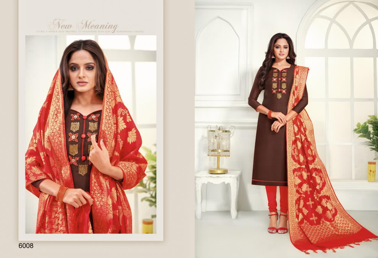 Shagun Lifestyle Life Style Vol 6 Modal Silk With Handwork Dress Material Collection At Wholesale Rate