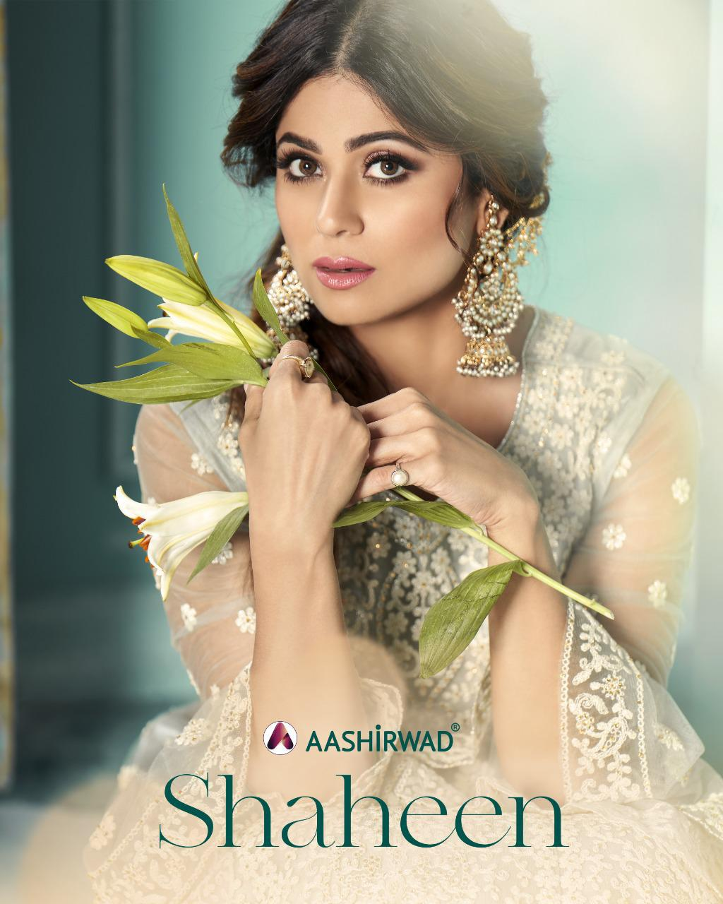 Aashirwad Creation Shaheen Butterfly Net With Embroidery Work Heavy Designer Wedding Wear Salwar Kameez At Wholesale Rate