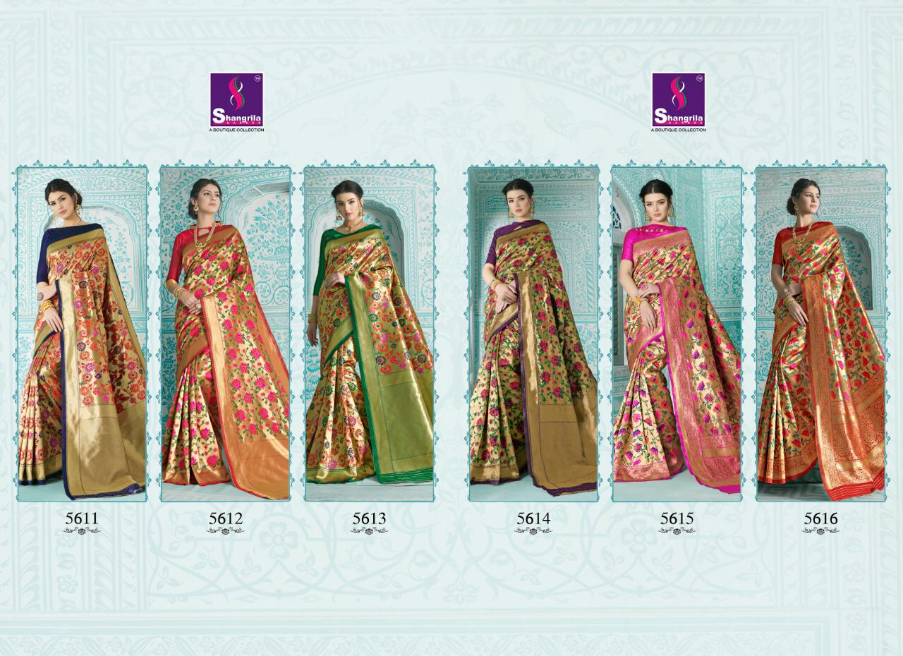 Shangrila Sarees Paithani Heavy Designer Paithani Sarees Collection At Wholesale Rate