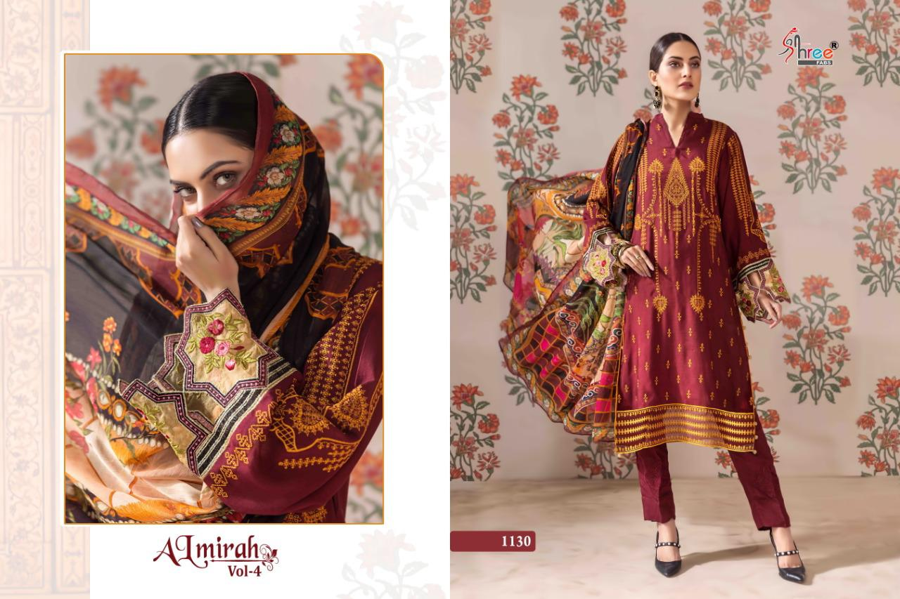 Shree Fabs Almirah Vol 4 Heavy Jam Cotton With Self Embroidery Work Pakistani Dress Material At Wholesale Rate