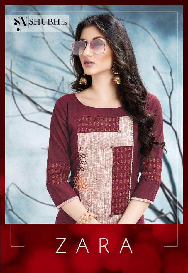 Shubh Nx Zara Printed South Cotton With Work Readymade Kurtis At Wholesale Rate