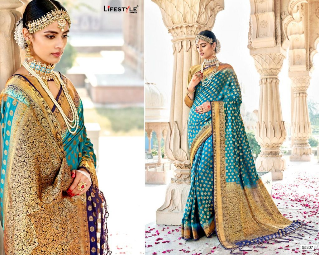 Lifestyle Swarnapari Designer Weaving Silk Sarees Collection At Wholesale Rate