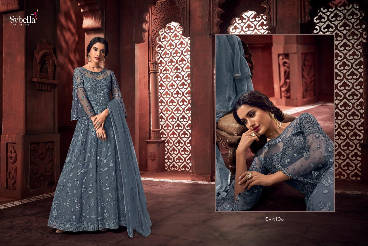 Sybella The Royalism Heavy Net With Embroidery Work Wedding Wear Salwar Suits Collection At Wholesale Rate