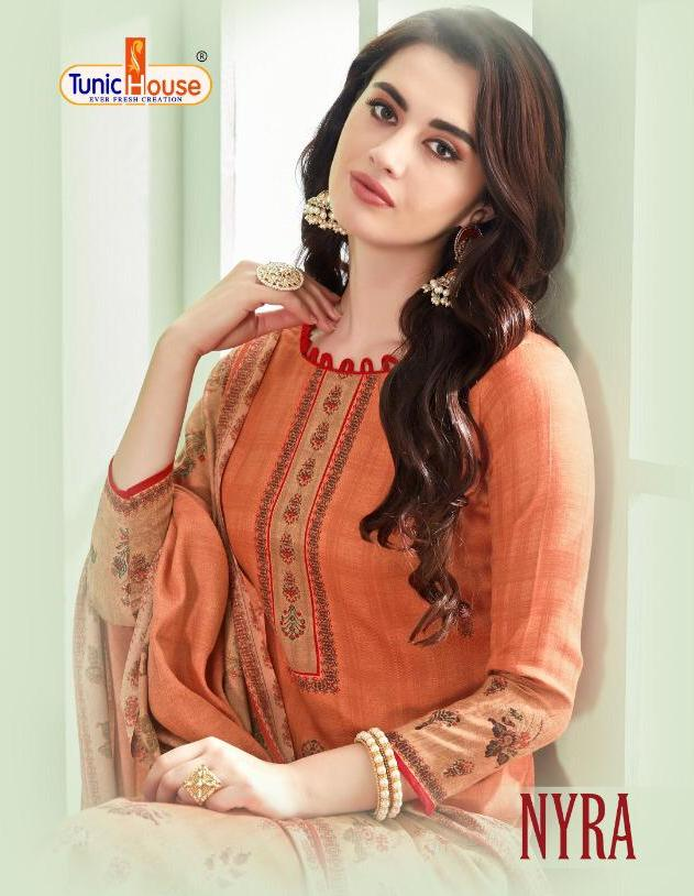 Tunic House Nyra Digital Printed Pure Pashmina Dress Material Collection At Wholesale Rate