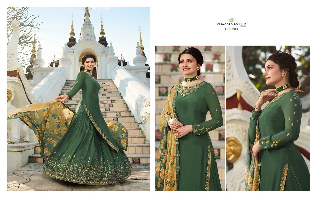 Vinay Fashion Kaseesh Life Style Vol 3 Designer Muslin Satin With Embroidery Work Salwar Kameez At Wholesale Rate