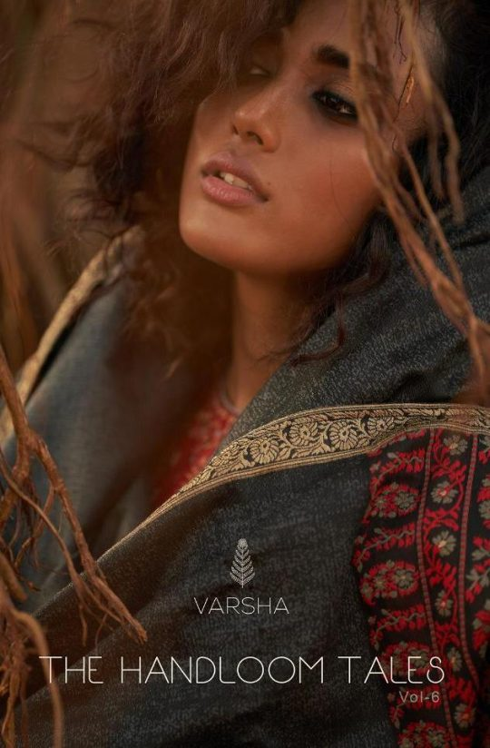 Varsha Fashion Handloom Tales Vol 6 Printed Pashmina With Embroidery Work Dress Material At Wholesale Rate