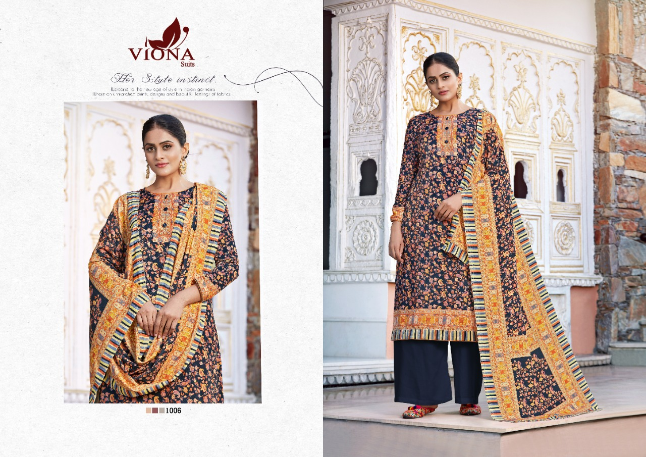Viona Suits Arshifa Digital Printed Pure Velvet Dress Material Collection At Wholesale Rate