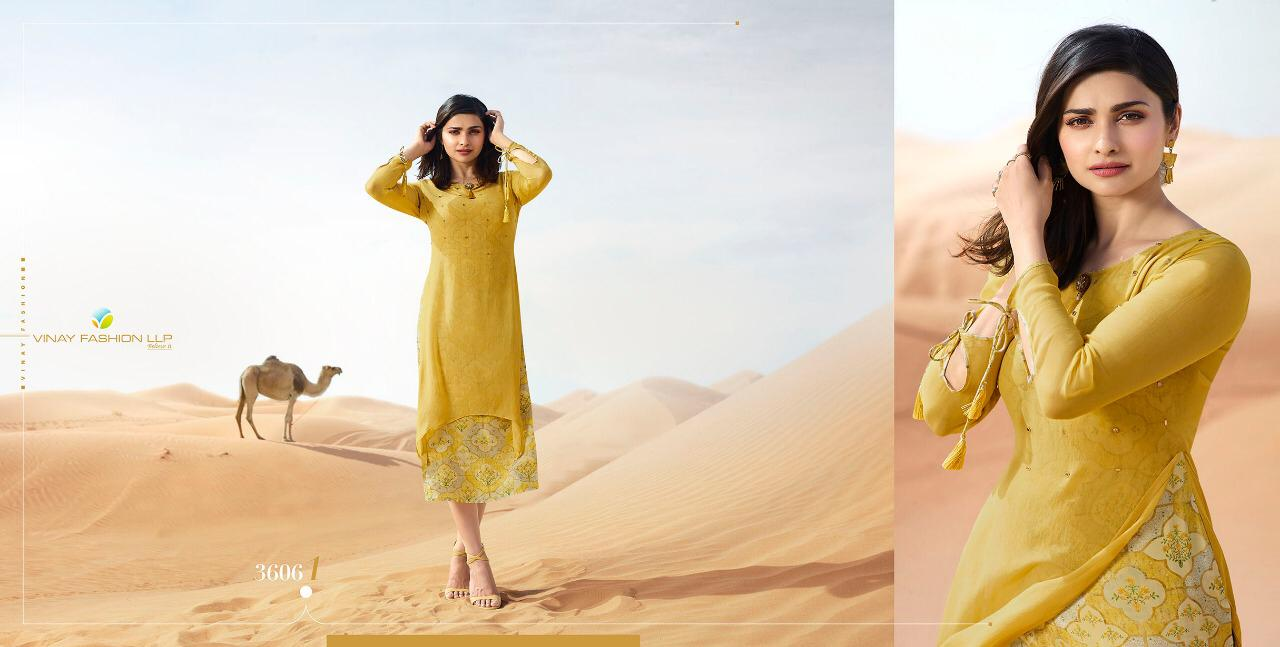 Vinay Fashion Tumbaa Fantasy Printed Georgette With Crepe Inner Long Flair Readymade Party Wear Kurtis