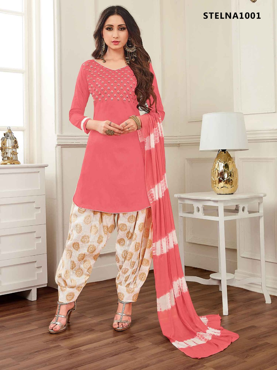Banarsi Cotton Patiyala Collection Latest Punjabi Dress Wholesaler
