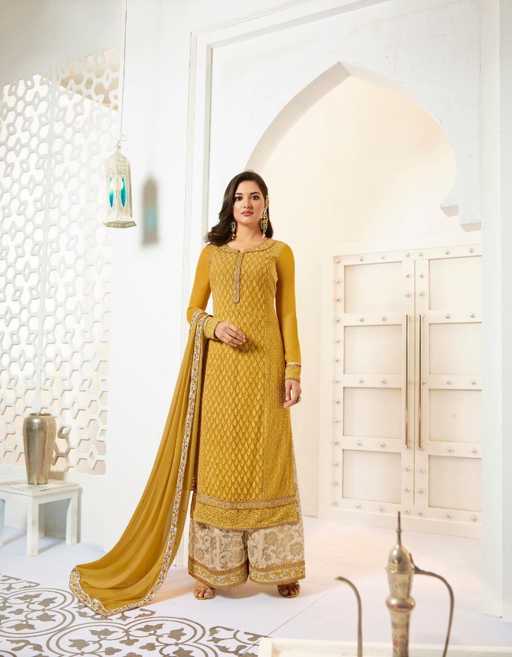 Amirah Fashion Amirah Vol 28 Designer Heavy Faux Georgette With Karachi Work Dress Material Collection At Wholesale Rate