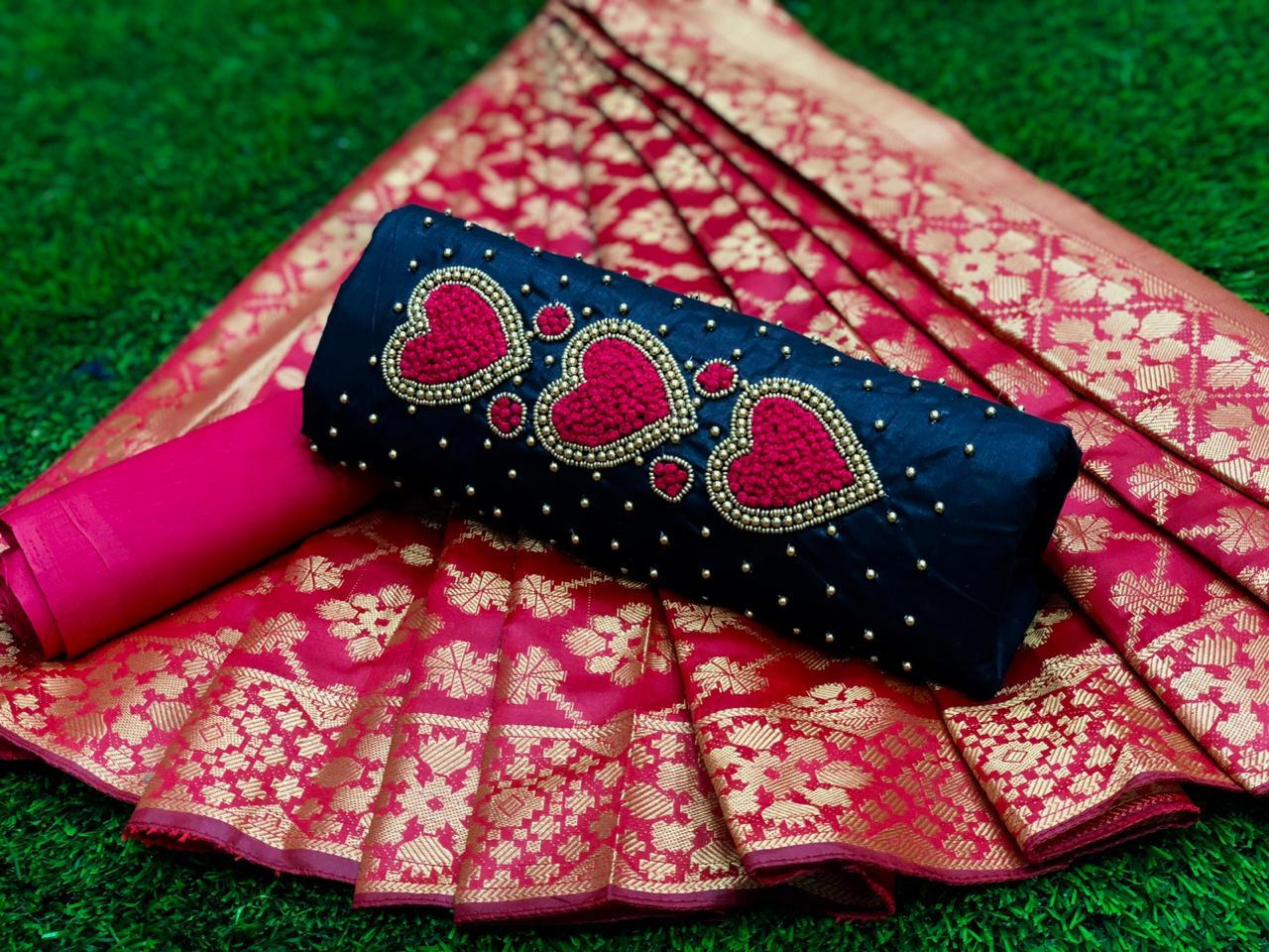 Non Catalog Heavy Cotton With Handwork Dress Material Collection At Wholesale Rate
