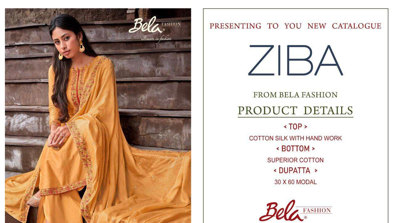 Bela Fashion Ziba Cotton Silk With Hand Work With Embroidery Work Salwar Kameez At Wholesale Rate