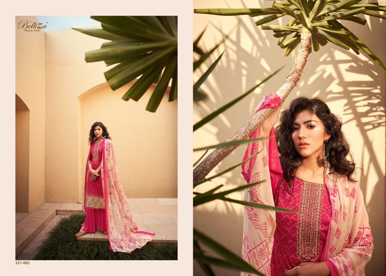 Belliza Designer Studio Bliss Jam Cotton Print With Embroidery Work Dress Material At Wholesale Rate