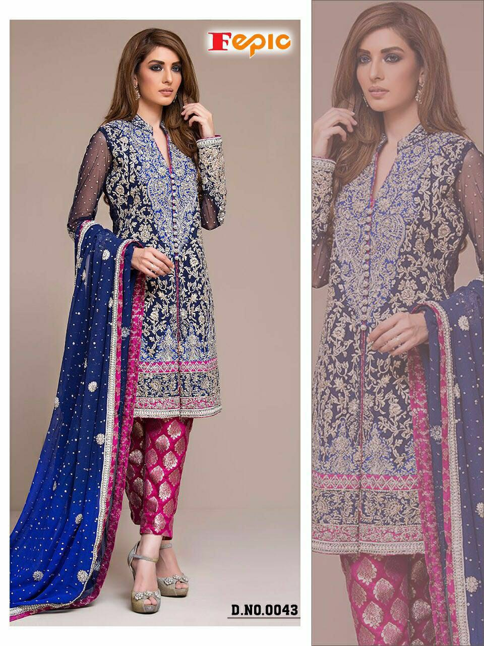 Fepic Pakistani Dress Materials Ready Stock At Wholesale Rates