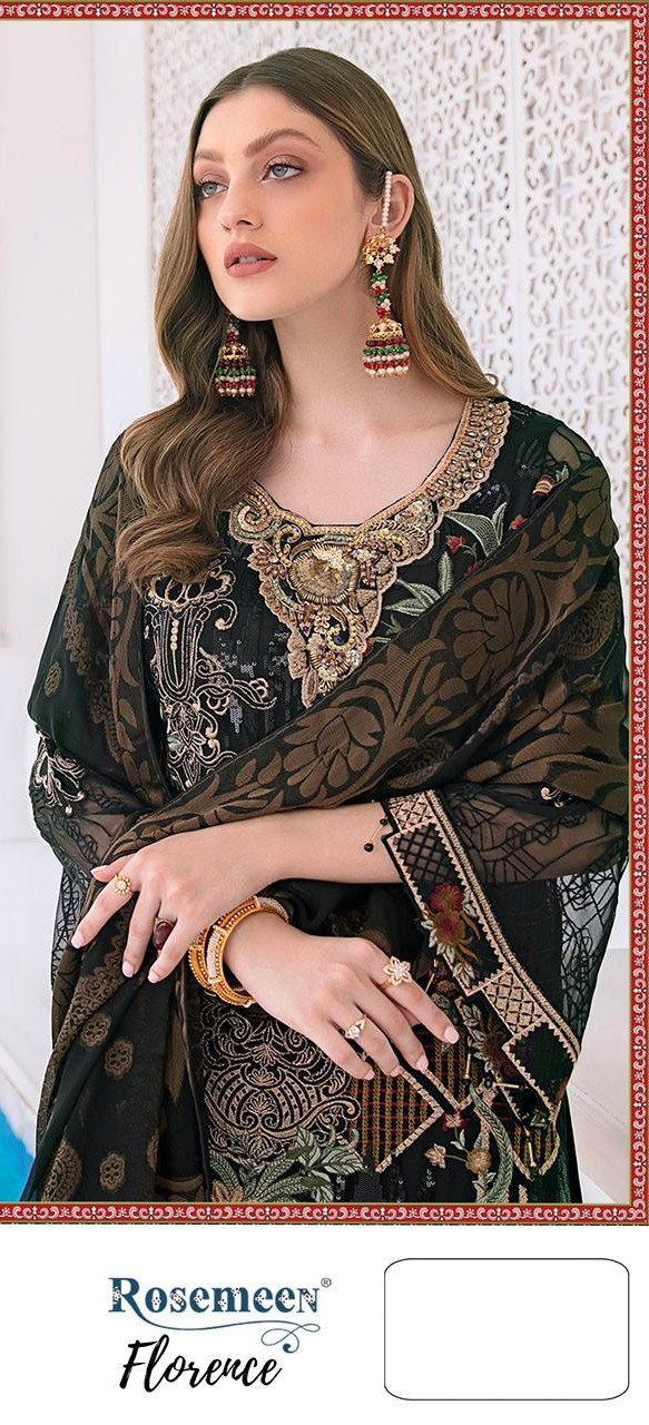 Fepic Rosemeen 90007 Net With Heavy Embroidery Work Pakistani Suits Collection At Wholesale Rate