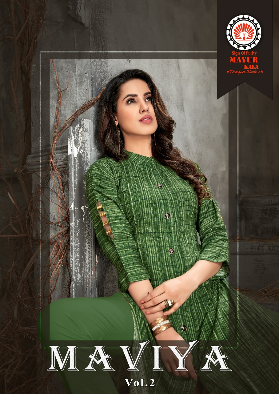 015bf1f91a MAVIYA VOL 2 by mayur pure rayon kurtis | Ethnic Export