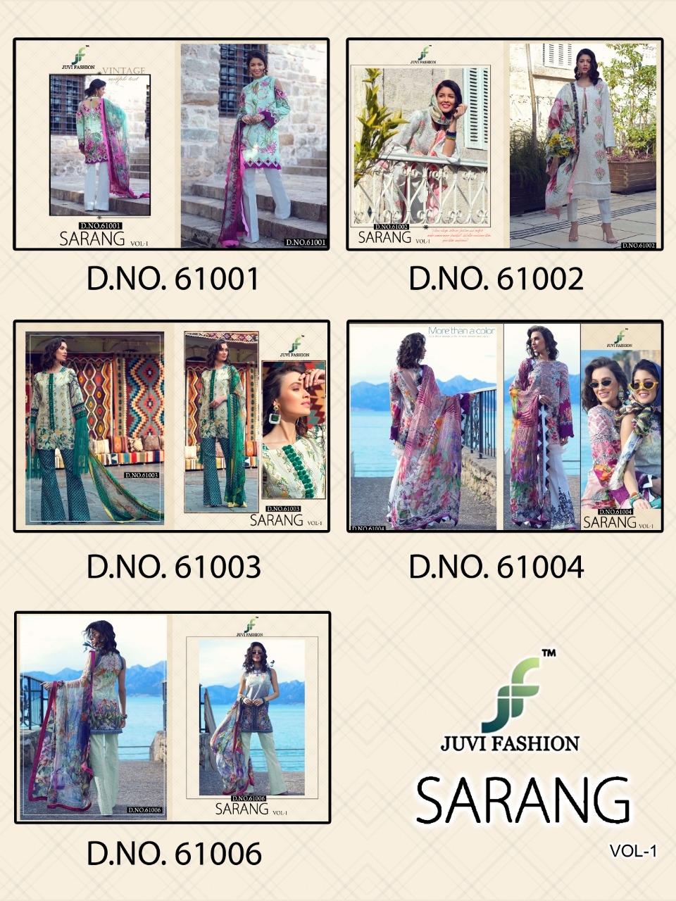 Juvi Fashion Sarang Printed Pure Lawn Cotton With Embroidery Work Pakistani Dress Material At Wholesale Rate