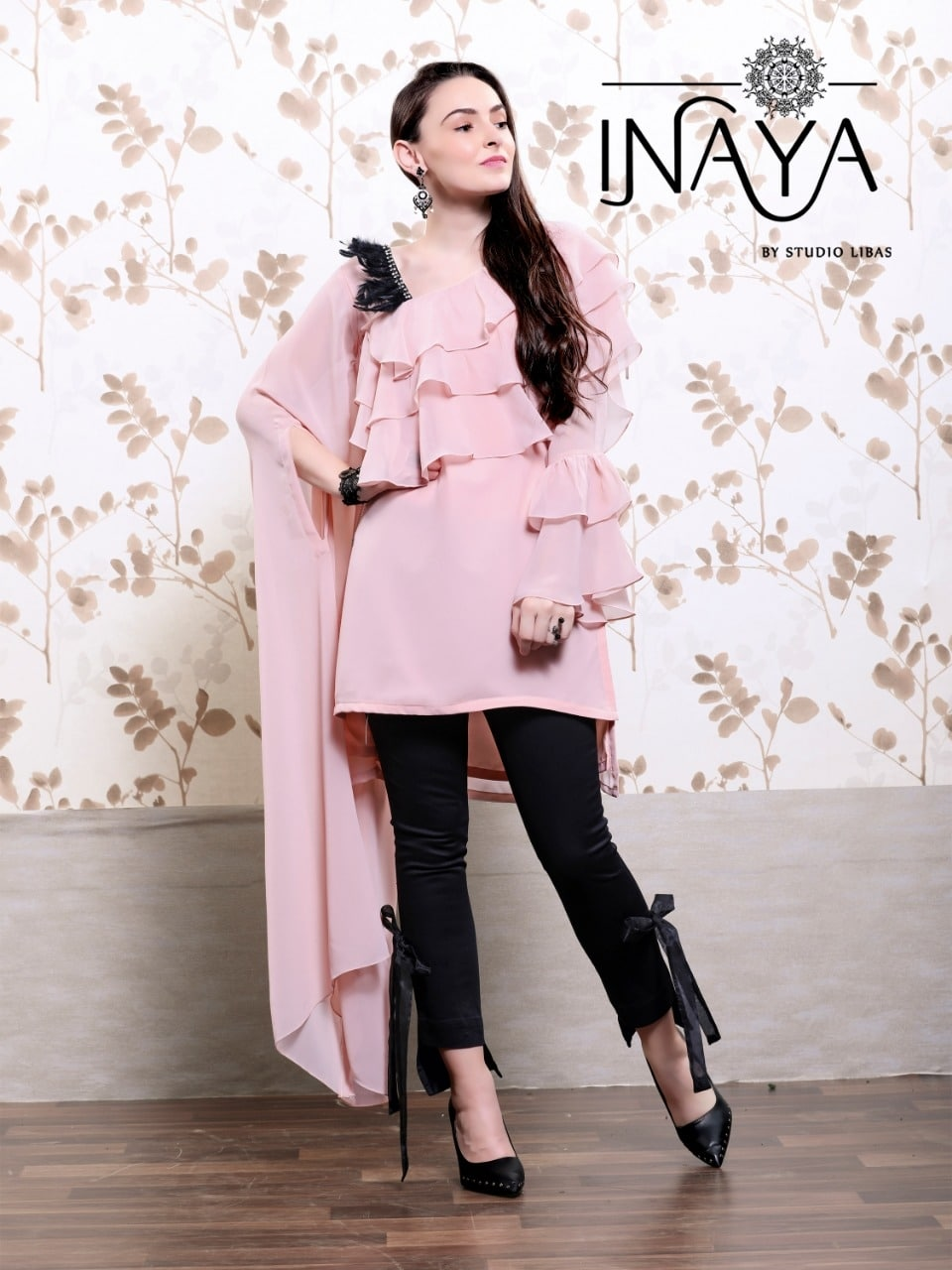 Inaya Luxury Pret Collection Vol 9 Exclusive Classic Top With Pany Style Kurtis Collection