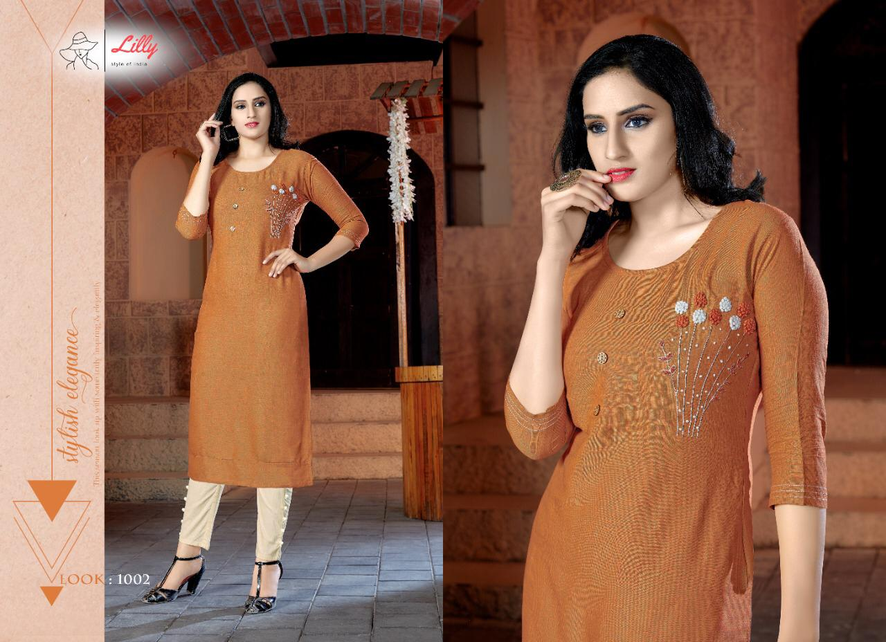 Lily Style Of India Pent House Rayon With Work Kurti With Pant Collection At Wholesale Rate