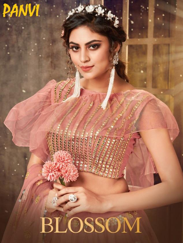 Panvi Blossom Soft Net With Heavy Embroidery Work Lehenga Choli Collection At Wholesale Rate
