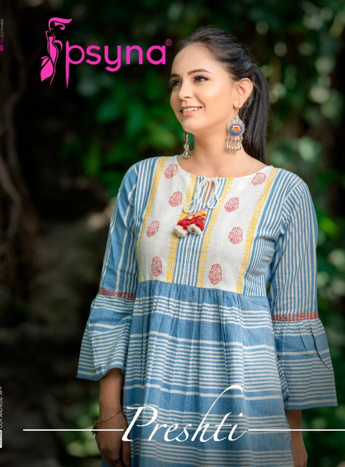 Psyna Presthi Cotton Short Fancy Top Collection At Wholesale Rate
