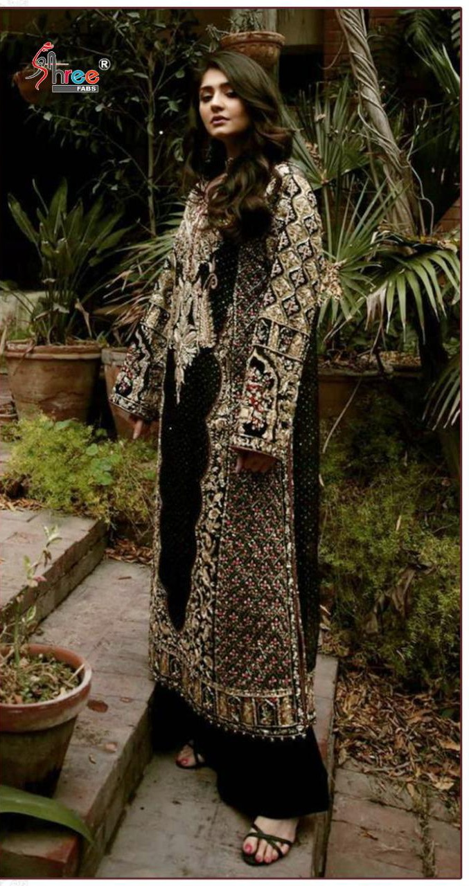 Shree Fabs S 246 Faux Georgette With Heavy Embroidery Work Pakistani Suits Collection At Wholesale Rate